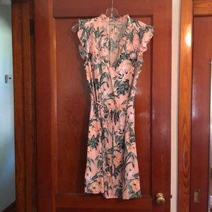 Loft tropical print dress